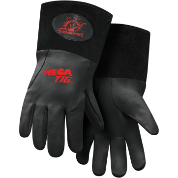 /Steiner Pro-Series™ MegaTIG™ Premium Kidskin TIG Welding Gloves With Rest Patch - ThermoCore™ Foam Lined Back, Long Cuff